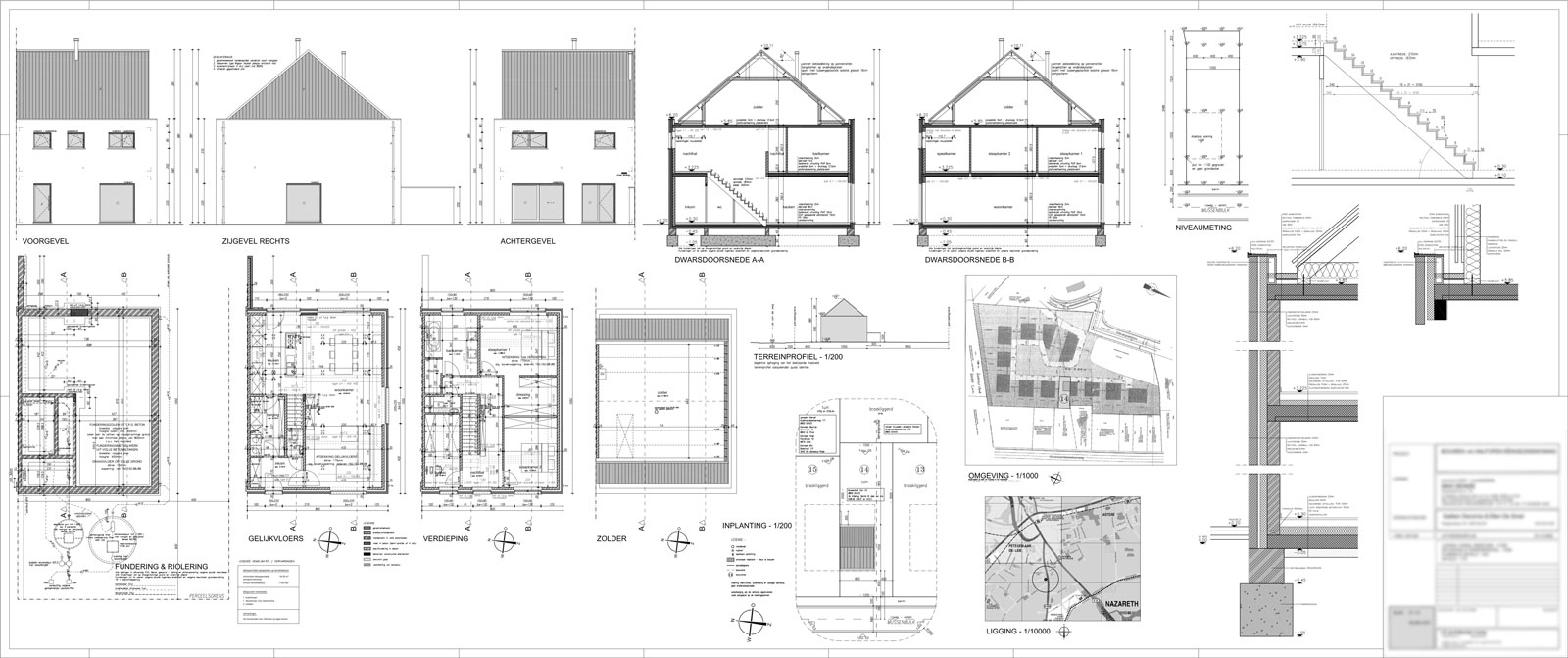 gd tekenburo ga 235 tan deronne deinze architectural designs house plans architectural floor plan